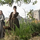 Claire and her newfound friend Geillis gather herbs. Courtesy of Starz