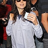 Ellen Page left the LA Kings Stanley Cup finals game in LA.