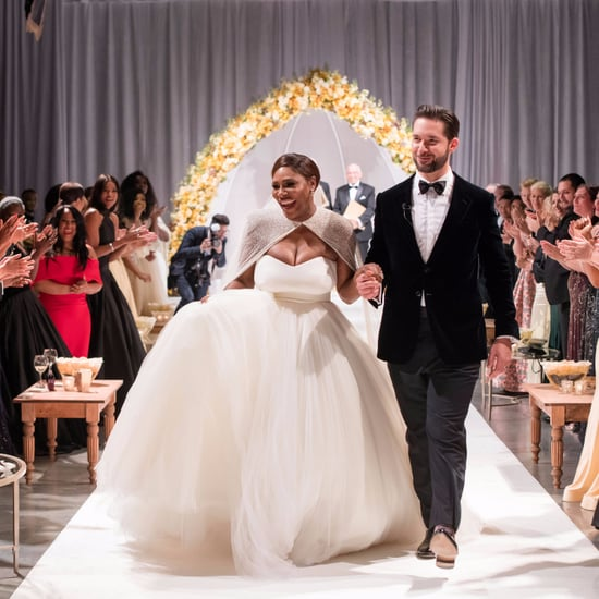 Serena Williams Wearing Alexander McQueen Wedding Dress