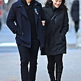 Josh Groban and Kat Dennings took a New Year's Eve stroll in NYC.