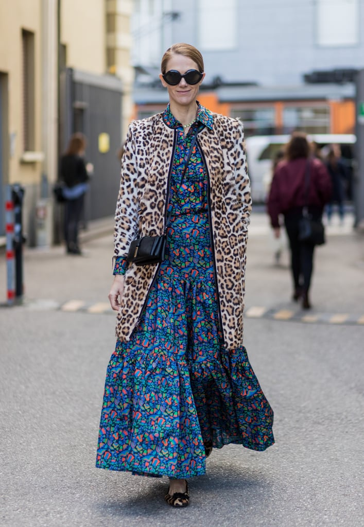 Be Bold and Throw Your Leopard Over Another Splashy Pattern in Contrast Tones