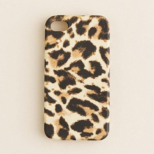 J.Crew leopard-print iPhone 4S case ($25)