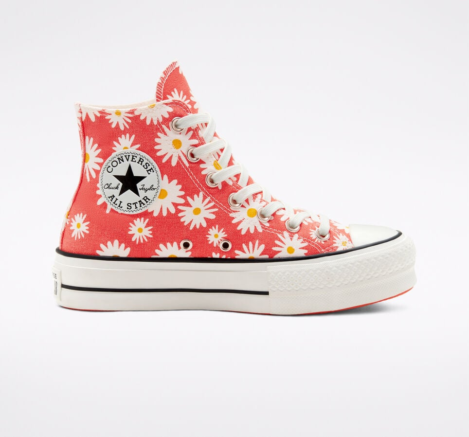 Converse Camp Daisies Platform Chuck Taylor All Star Sneakers