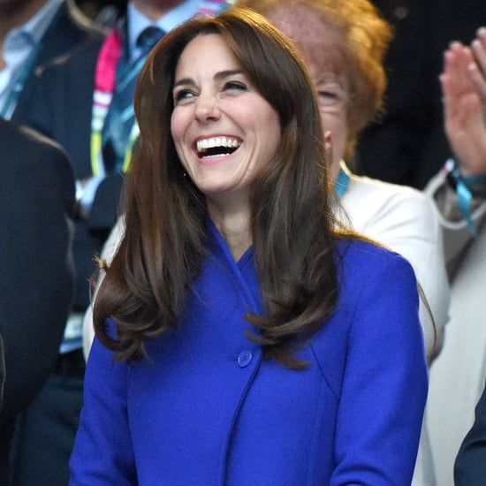 Kate Middleton Wearing Blue Reiss Coat