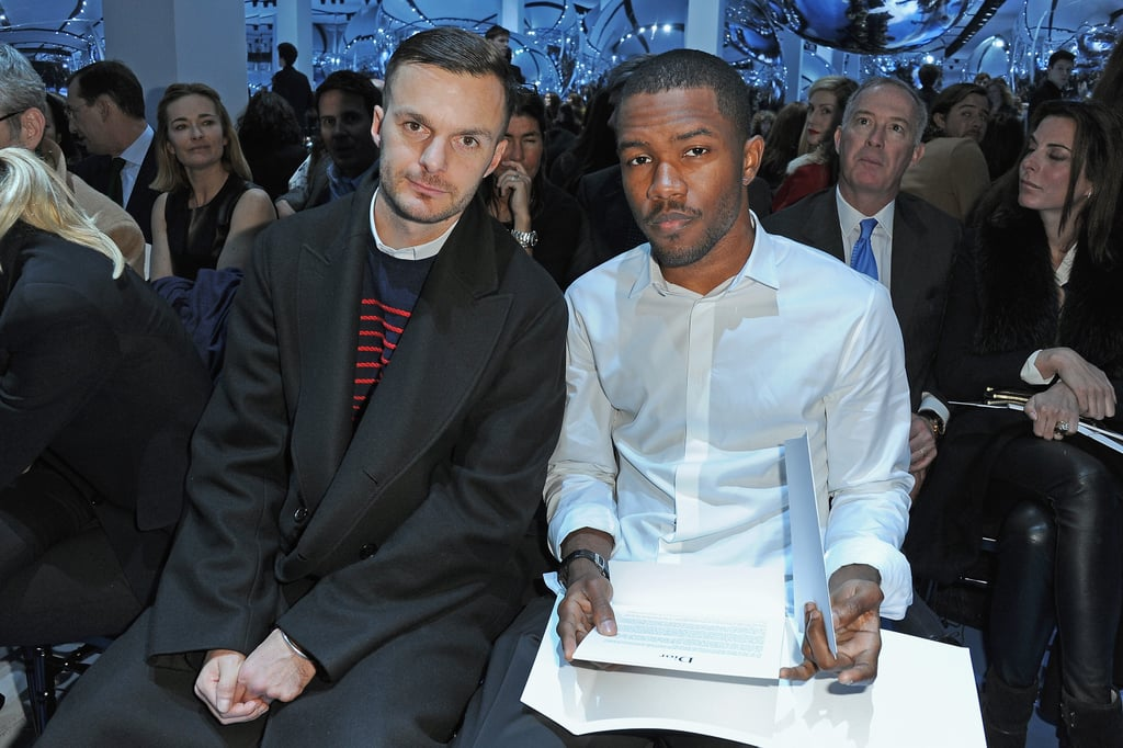Frank Ocean sat front row at the Christian Dior show in Paris in March.