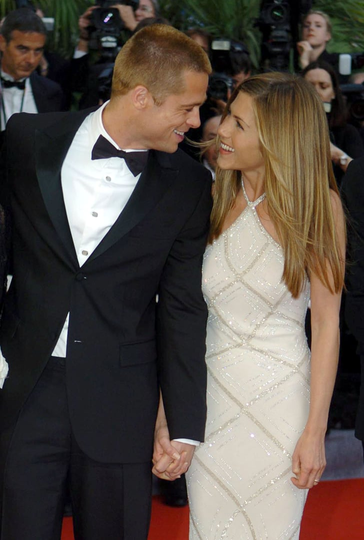 Brad Pitt And Jennifer Aniston Shared A Sweet Glance At
