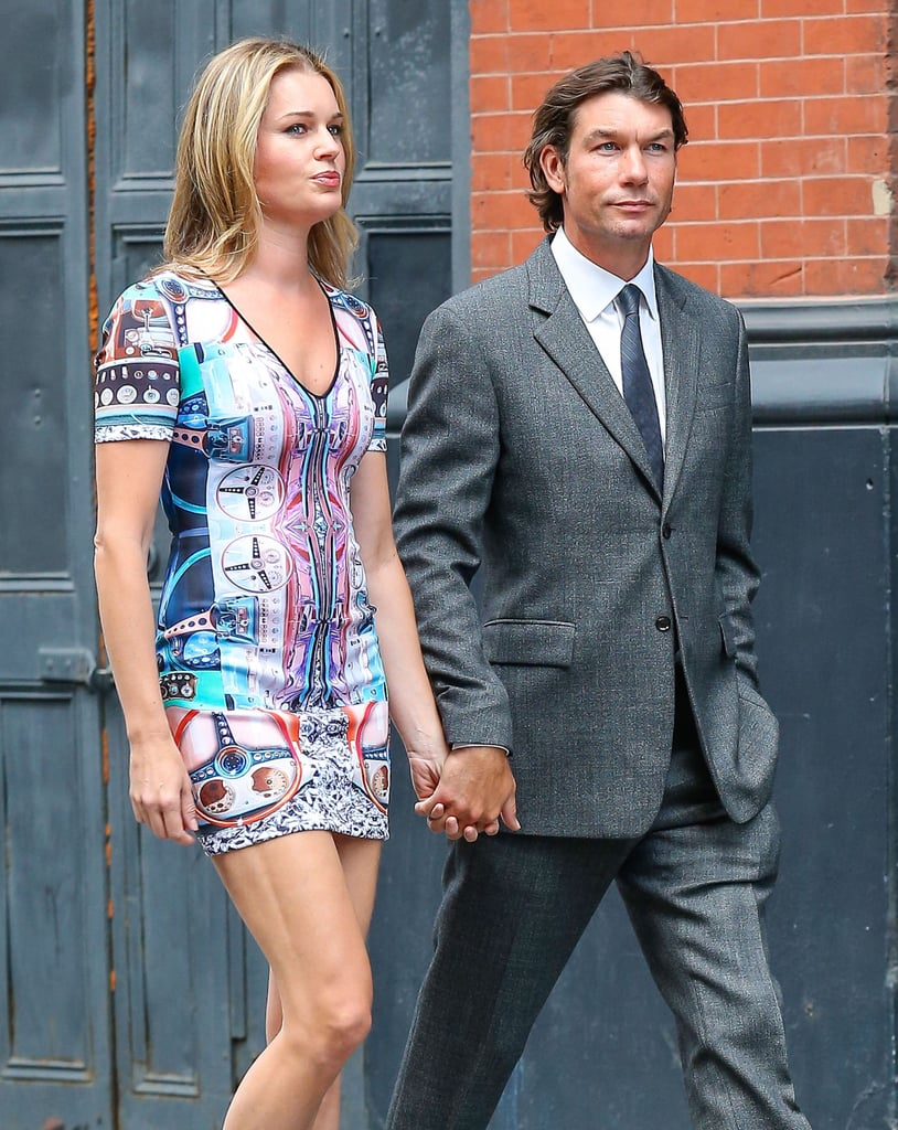 Jerry O'Connell and Rebecca Romijn walked hand in hand on their way into Jesse Tyler Ferguson's July 2013 wedding in NYC.