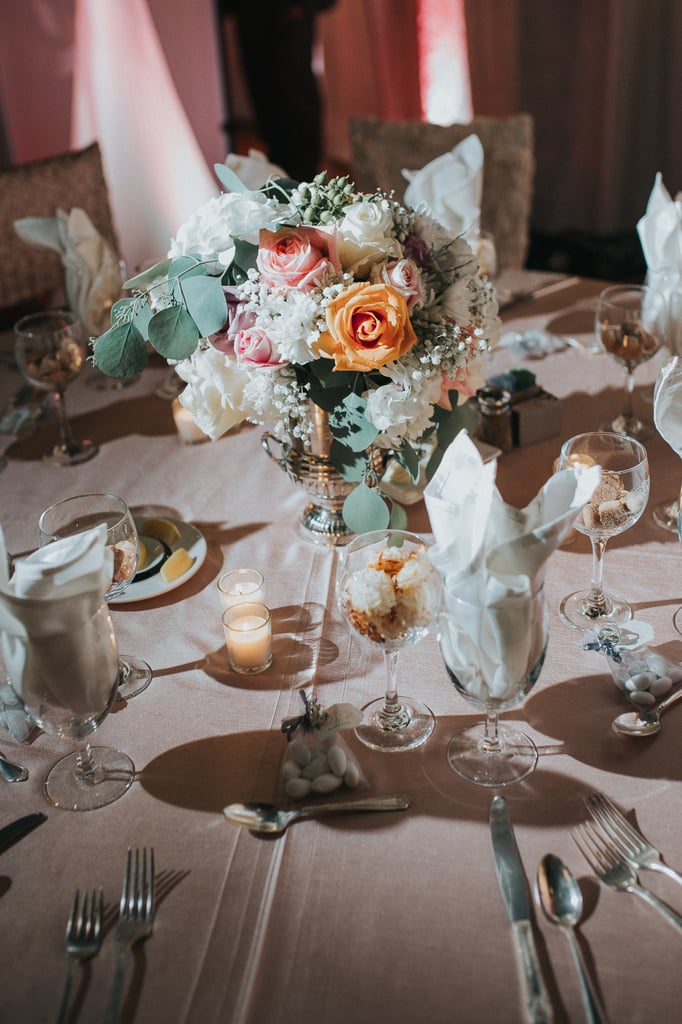 Elegant Wedding Reception With Blush And Grey Colours Popsugar
