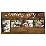 Personalized Memories Four Photo Clip Wall Frame