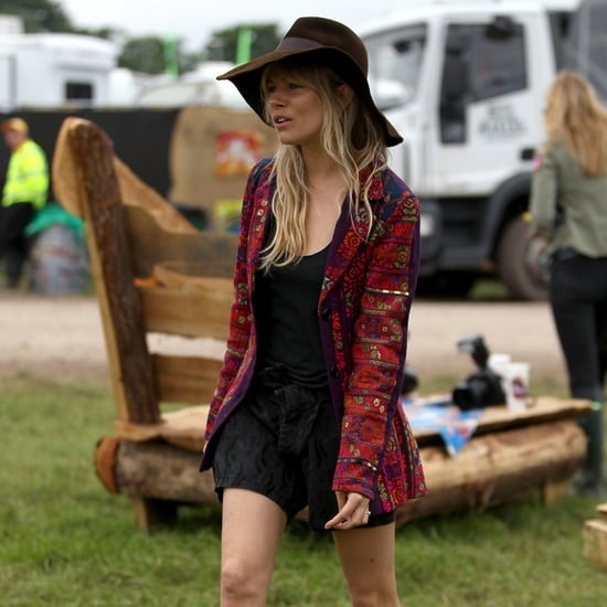 British Celebrity Fashion at Glastonbury Festival