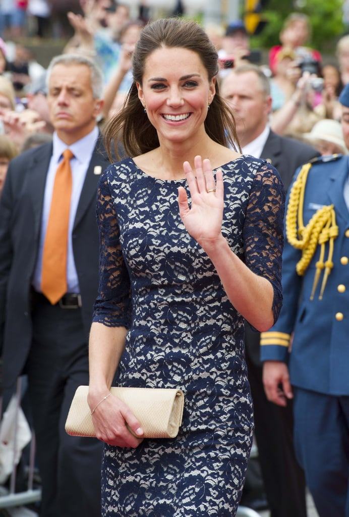 Kate Middleton waved to onlookers as she arrived in Ottawa.
