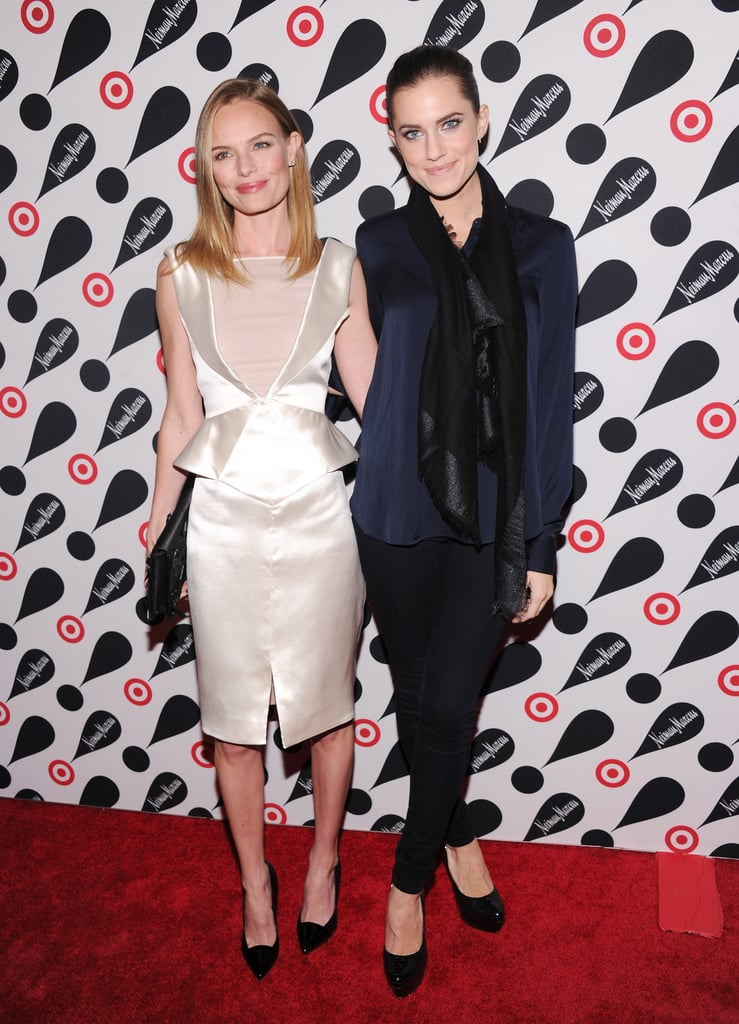 Allison Williams linked up with Kate Bosworth to celebrate the Target and Neiman Marcus Holiday Collection in NYC.