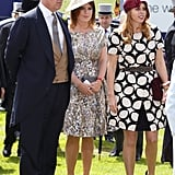 Andrew, Eugenie, and Beatrice attended Derby Day festivities in 2013.