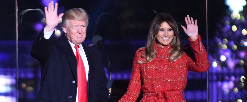 Melania Trump Wrapped Herself in a Chanel Tweed Coat, All to Light the Tree
