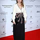 Beatrice was every inch the glamorous princess in a Gucci gown at the Global Gift Gala.