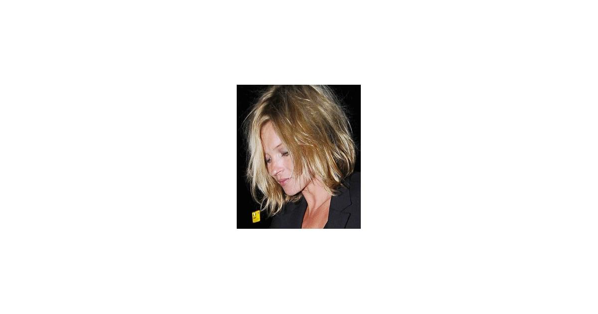 Photos Of Kate Moss New Short Hair Cut Bob Mid Length