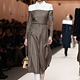 Gigi's Fendi Look Was Comprised of a Colorblock Work Dress and White Cowboy Boots