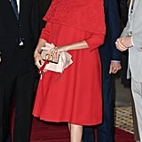Meghan's Red Valentino Cape Dress