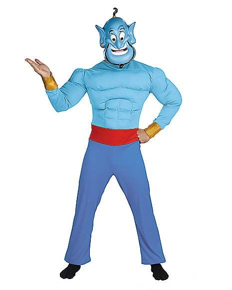 Adult Muscle Genie Costume From Aladdin