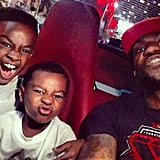 LeBron James With LeBron Jr. and Bryce