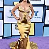 Becky G and Sebastian Lletget at Latin American Music Awards