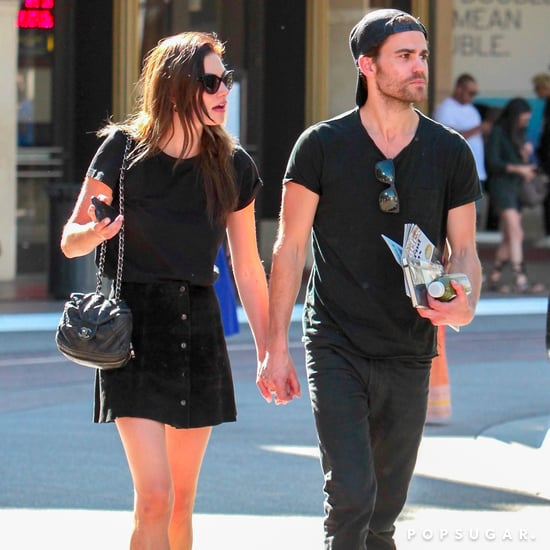 Paul Wesley and Phoebe Tonkin Holding Hands in LA May 2017