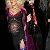 Christina Aguilera and Jordan Bratman as a Spider Woman and Dracula