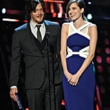 "Allison Williams joked about ""getting a lot of action"" on Girls while presenting with Norman Reedus."