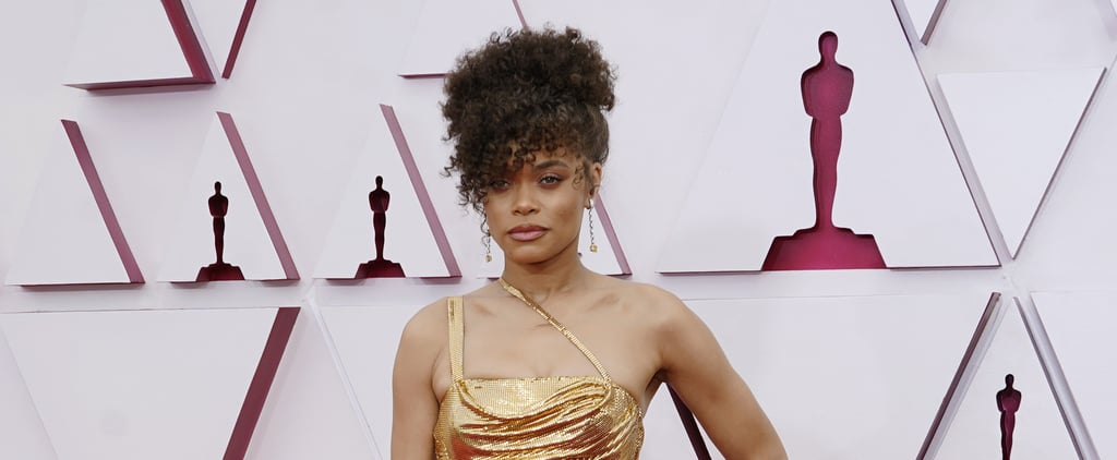See Andra Day's Gold Cutout Dress at the 2021 Oscars