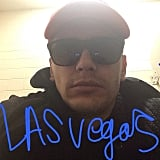 James Franco's shades and Las Vegas apparently go hand in hand. Source: Instagram user jamesfrancotv