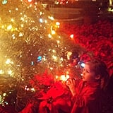 Tiffani Thiessen captured the wonder of Christmas as Harper tried to decide where to put an ornament. Source: Instagram user tathiessen