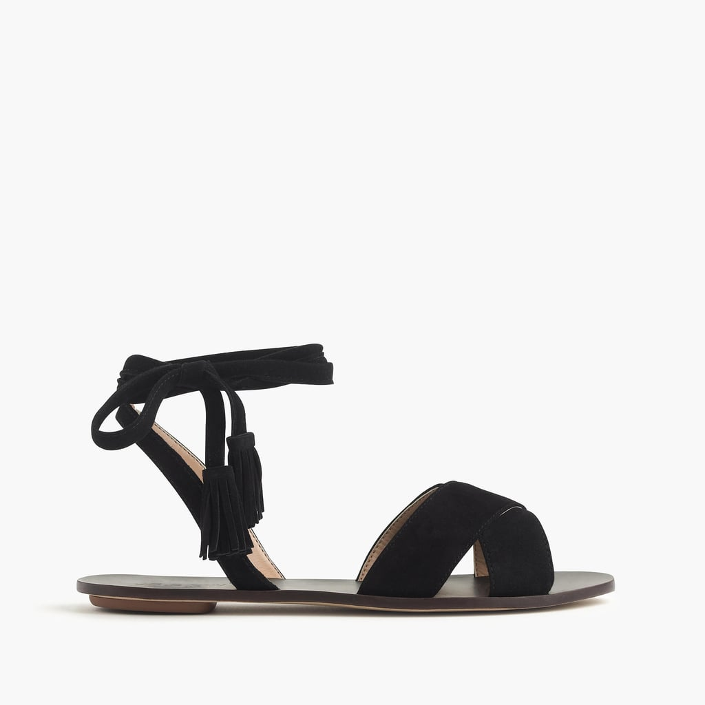 Comfort is key when you're standing for long periods of time at music festivals. Opt for this suede sandal from J.Crew ($118).