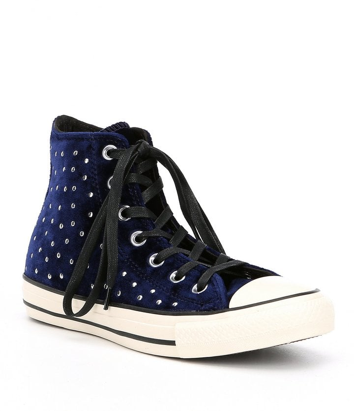 Converse Women s Chuck Taylor All Star Velvet Stud Hi Top Sneakers ... f98da8336da8