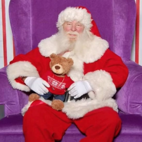 Mom Honors Stillborn Baby With Teddy Bear on Santa's Lap