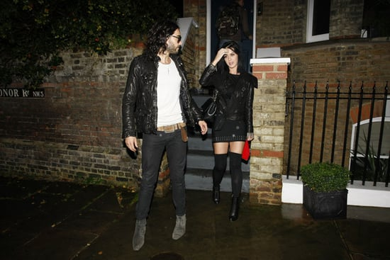 Katy and Russell leave his house on their way to Luton Airport to prepare for departure on a private jet