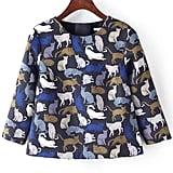 Romwe Slit Back Cat Top ($27)