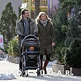 Claire Danes and Hugh Dancy went for a walk in NYC with their son Cyrus on Saturday.