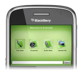 Evernote Is Now Available on the BlackBerry