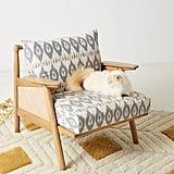 Washed Ikat Cane Chair