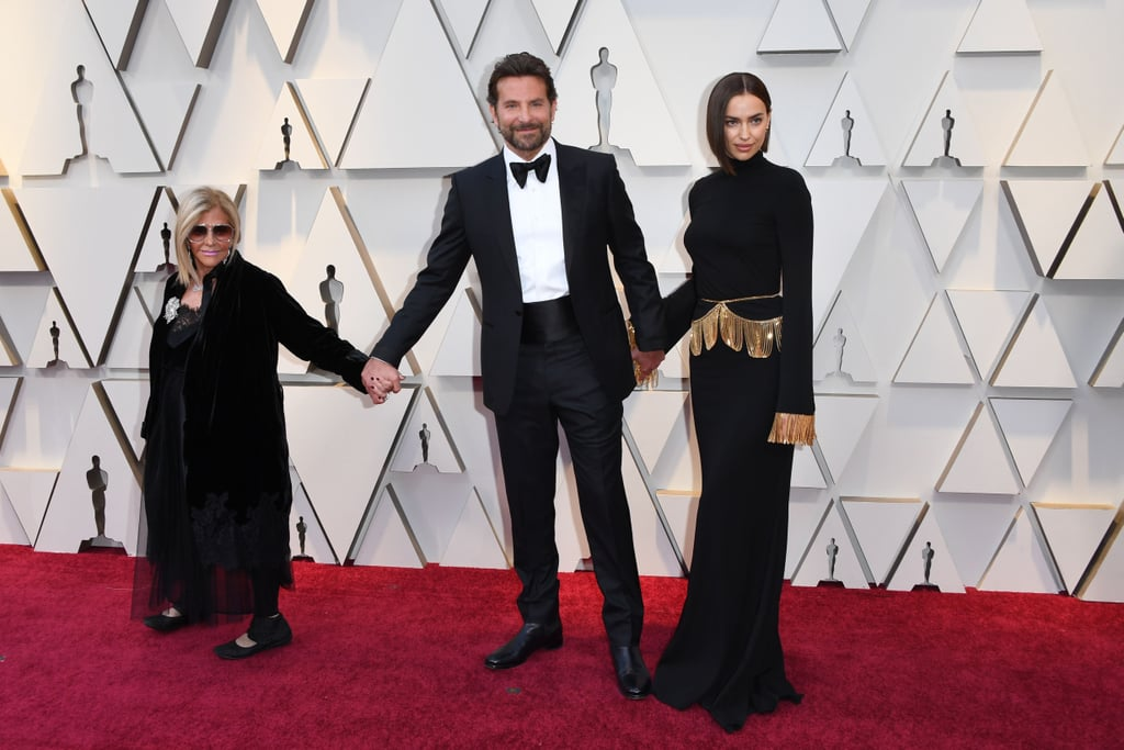 "Bradley Cooper had his two favorite ladies by his side when he stepped out at the Oscars on Sunday night: girlfriend Irina Shayk and his mom, Gloria Campano! The Oscar-nominated actor looked mighty fine when he hit the red carpet, sporting some new scruff and a black tux. To make things even cuter, Irina and Gloria both color-coordinated their outfits to match Bradley's — how sweet! Not only was Bradley's film A Star Is Born nominated for a whopping seven awards, including best picture (Green Book won), but Bradley and Lady Gaga also took the stage for a special performance of ""Shallow."" Check out Bradley's fun-filled night ahead!      Related:                                                                                                           People Were Full-On BLUSHING During Lady Gaga and Bradley Cooper's Oscars Performance"