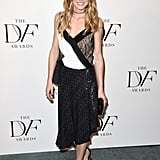 Olivia Wearing DVF's Frederica Top and Brenda Skirt