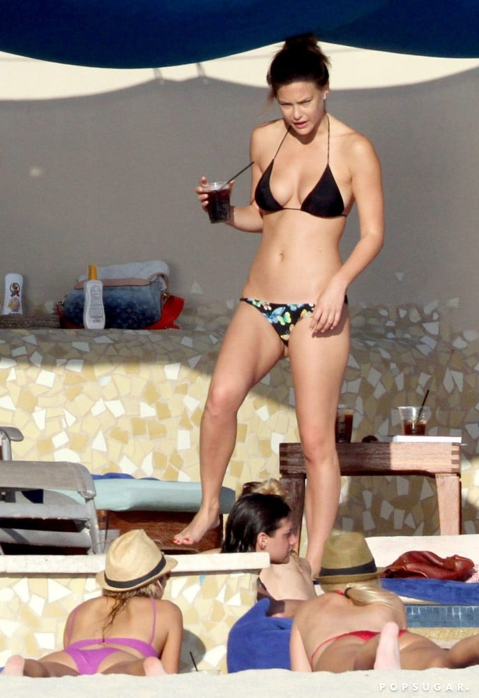 During Bar Refaeli's December 2010 stay in Cabo, the supermodel drank a cocktail and lounged in a bikini.