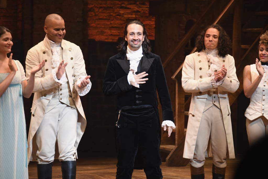 Lin-Manuel Miranda has become a household name thanks to his hit musical Hamilton. In addition to writing the music, lyrics, and book for the Broadway show, he also originated the role of Alexander Hamilton. However, he didn't star in the musical for as long as you might think. Hamilton first premiered off-Broadway at The Public Theater in January 2015. The show eventually began previews on Broadway at the Richard Rodgers Theatre (aka the home of Miranda's 2008 Broadway musical In the Heights) on July 13, 2015, before its official opening on Aug. 6, 2015.  It didn't take long for the musical to become a smash hit. Along with a Tony win for best musical, Hamilton also won a Grammy for best musical theater album. Additionally, Miranda took home the Pulitzer Prize for drama for the musical as well as the Drama League Distinguished Performance Award. After less than a year in the role, Miranda announced his departure in June 2016 and gave his last performance on July 9, 2016. Though Miranda hasn't returned to the Broadway show since, he did reprise his role for its three-week run in Puerto Rico in 2019.  Thankfully, his performance will live on forever with the Hamilton movie on Disney+, which releases on July 3. Keep scrolling for more photos of Miranda in his iconic role.