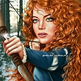 Celebrity Princess: Emma Stone as Merida