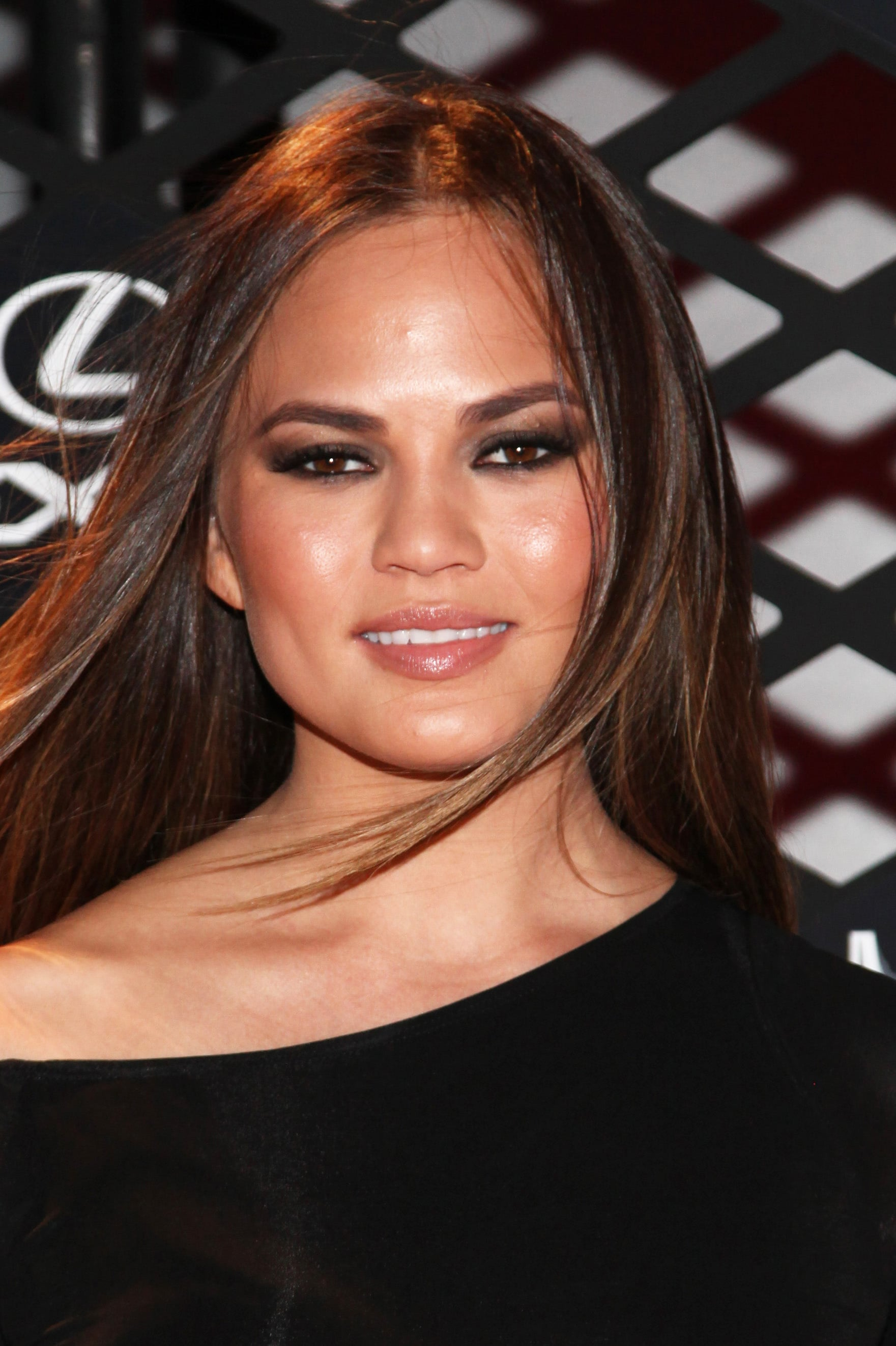 Chrissy Teigen at the Lexus Design Disrupted Fashion Experience.