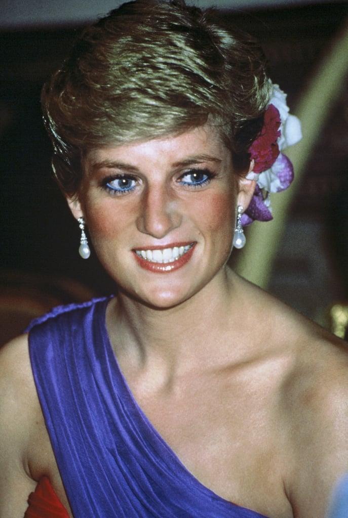 Princess Diana Accessorizing Her Pixie Cut in 1988
