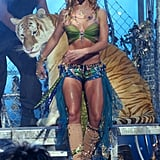 Doc Antle With Tiger in Britney Spears' 2001 VMA Performance