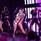 """Becky G performing """"Mayores"""" at the Latin AMAs"""