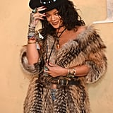 Rihanna Drinking Wine at Dior Fashion Show May 2017
