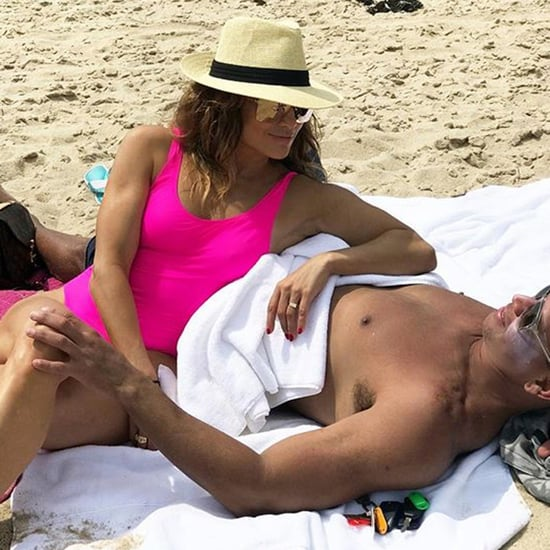 Jennifer Lopez Pink Swimsuit With Alex Rodriguez 2018
